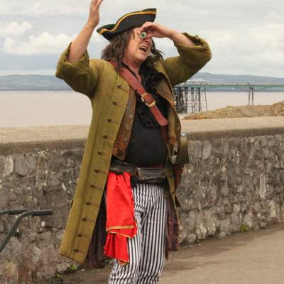 Piratitude Gallery Image. -  Captain Barnacle's got his eye out for you