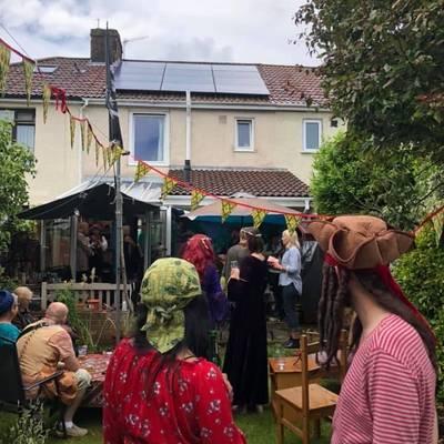 Piratitude Gallery Image. -  Garden pirate party entertainment