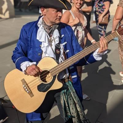 Piratitude Gallery Image. -  Lefty entertaining the locals