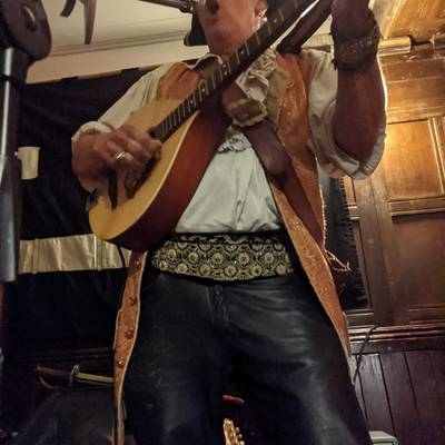 Piratitude Gallery Image. -  Check out Barnacles leather trousers!
