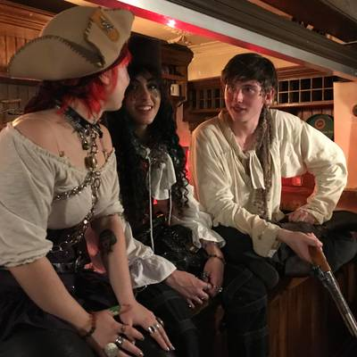Piratitude Gallery Image. -  Pirates sat on the bar
